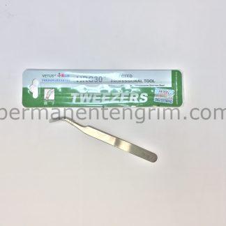 пинсети за поставяне на мигли, прецизна пинсета VETUS за обемни мигли
